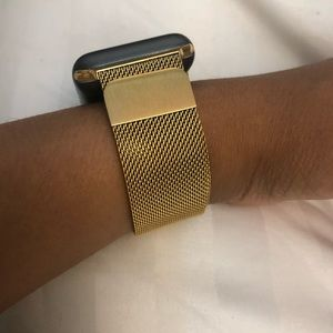 """""""Dripping Gold"""" Apple Watch Milanese Band"""